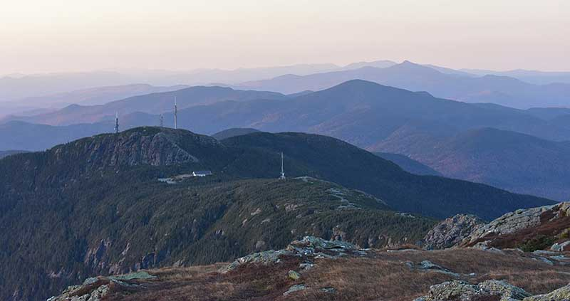 Green Mountains (Vermont) looking south from Mt. Mansfield